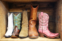 "a ""family"" of western boots for harvest festival"