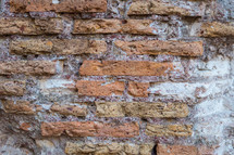 old brick wall in Rome