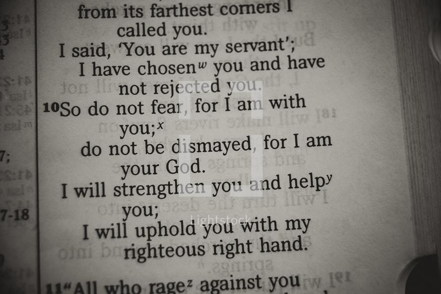 do not fear - Bible verse