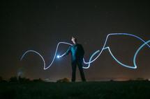 flashlight light streaks