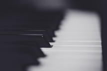 blurry piano keys