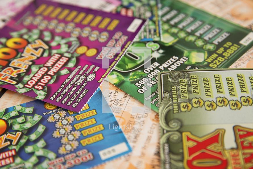 scratch off lottery ticket
