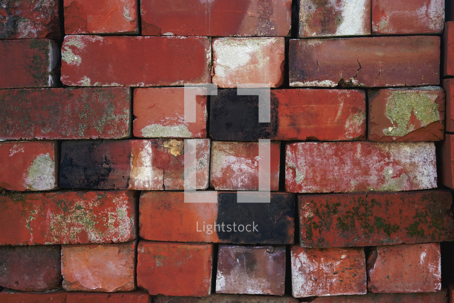 red stacked bricks