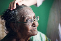 An elderly woman in India