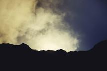 Sun   Light   Glory   Shine   Ray of Light   Sky   Clouds   Silhouette   Mountain