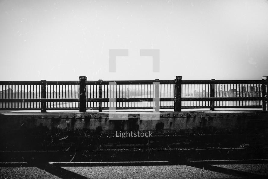 railing of the Washington Bridge