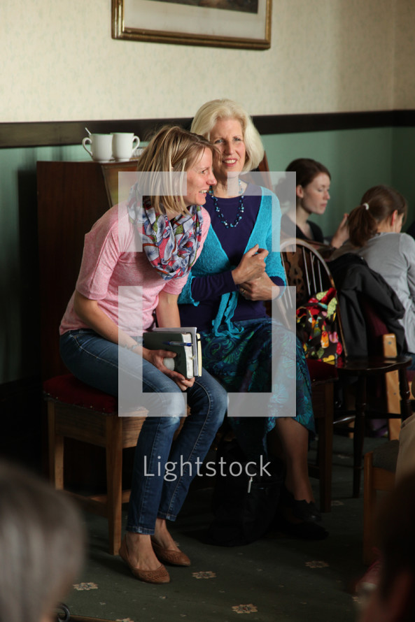 women in conversation at a woman's group
