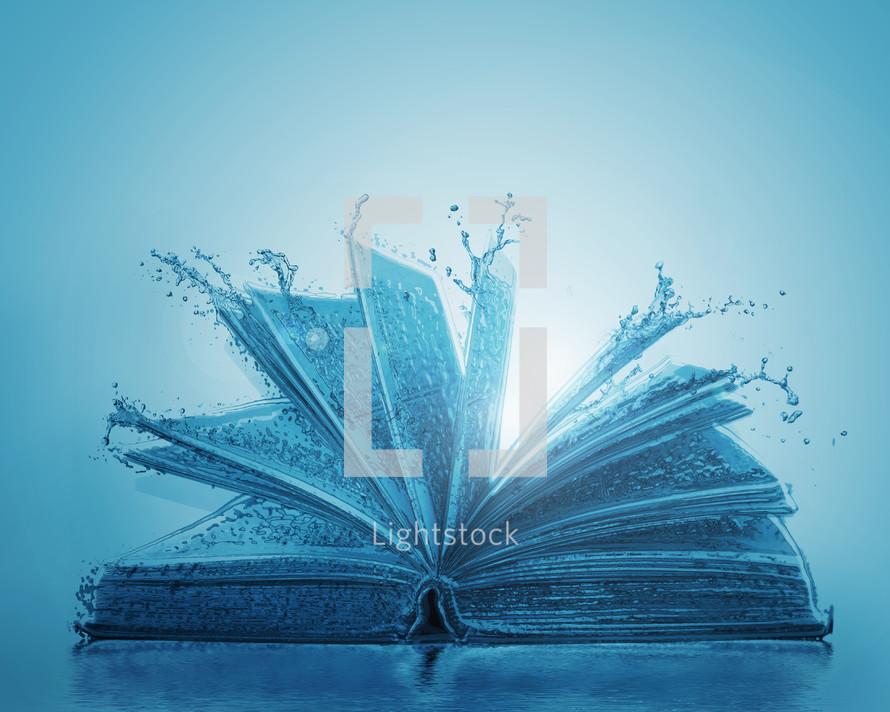 The Bible makes a splash.
