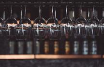 hanging wine glasses
