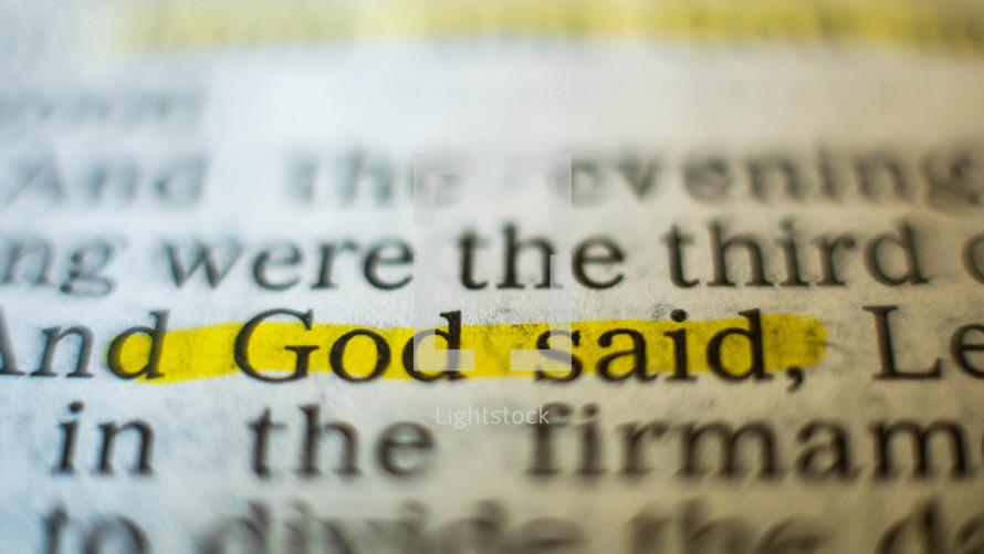 God said
