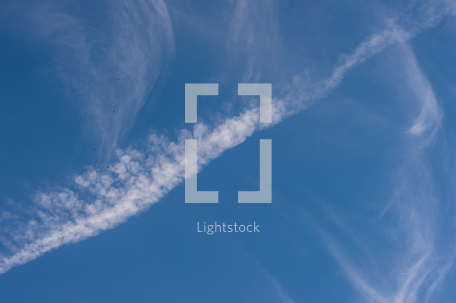 streaks in the sky