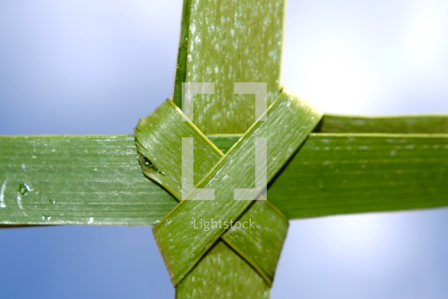 palm cross close-up