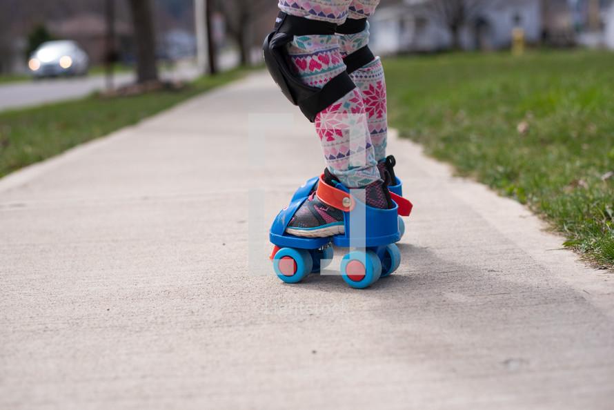 kid roller skating