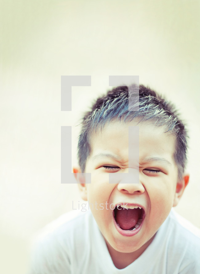 boy child screaming