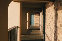 sunlight on a balcony