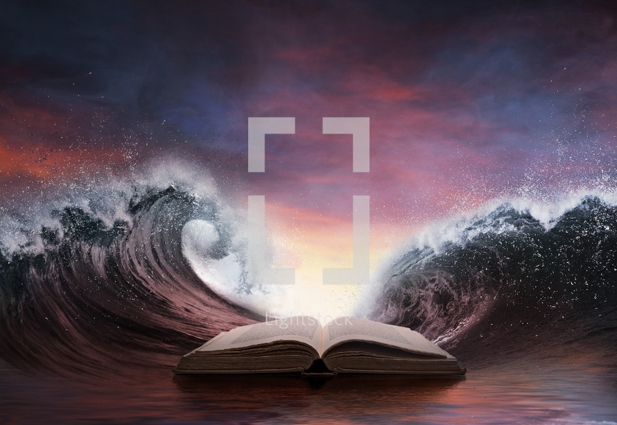 Bible parting the red sea