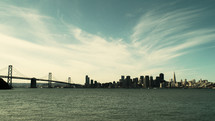 San Francisco Bay area skyline.