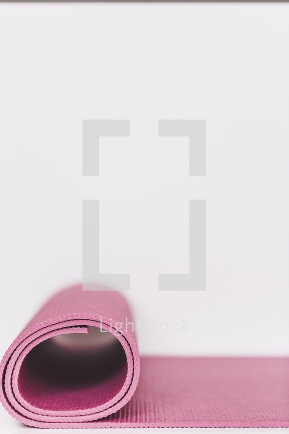 pink yoga mat