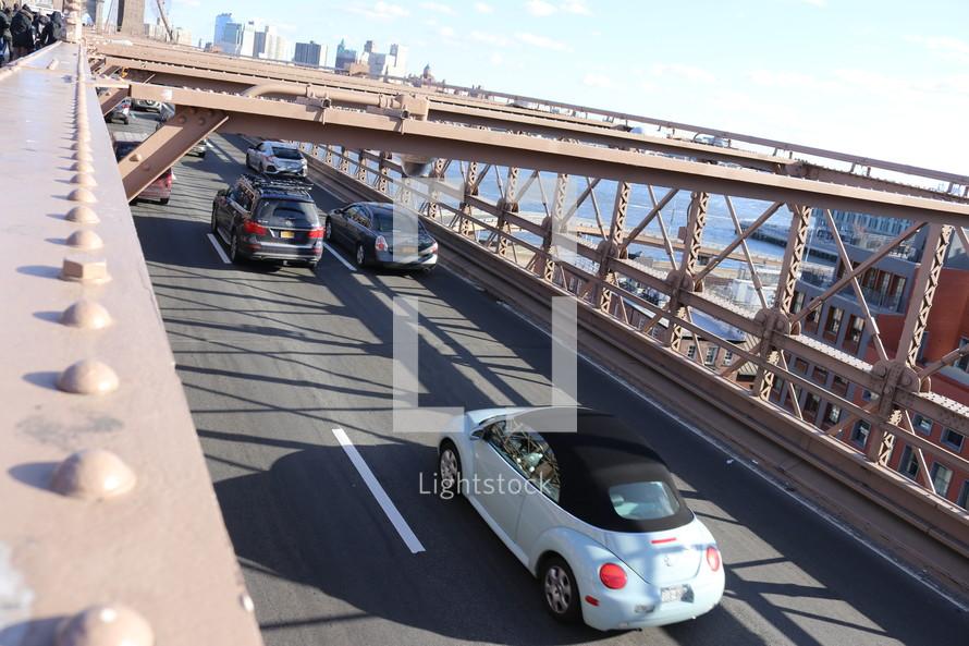 traffic crossing a bridge