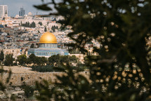 modern day Jerusalem and Dome of the Rock