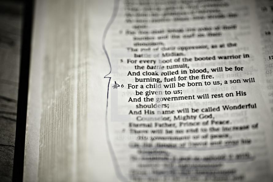 Scripture verse of Isaiah 9:6