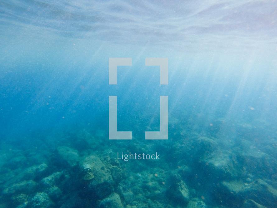 sunlight under water
