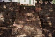 brick steps in Italy