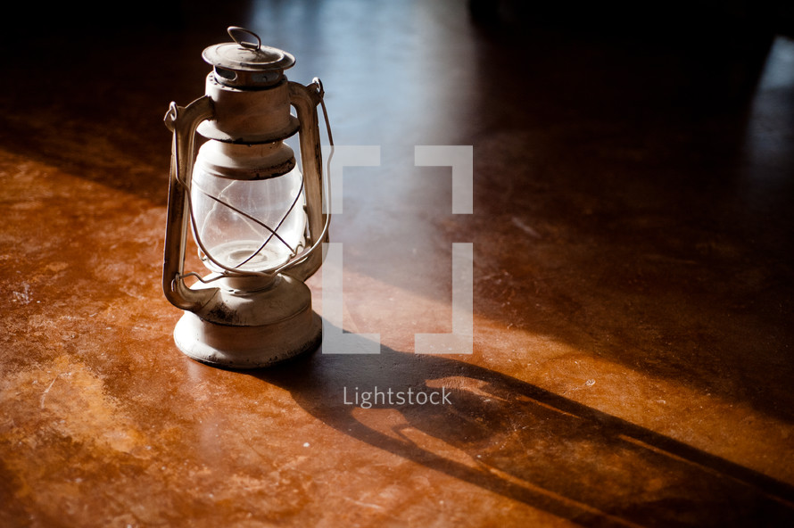 old white lantern
