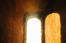sunlight through an ancient window