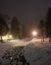 snow on a winter landscape