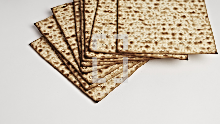 A stack of unleavened crackers