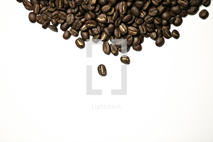A pile of coffee beans