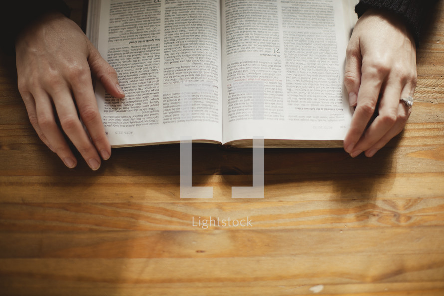 reading a Bible