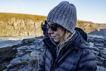 a woman tourist in Iceland