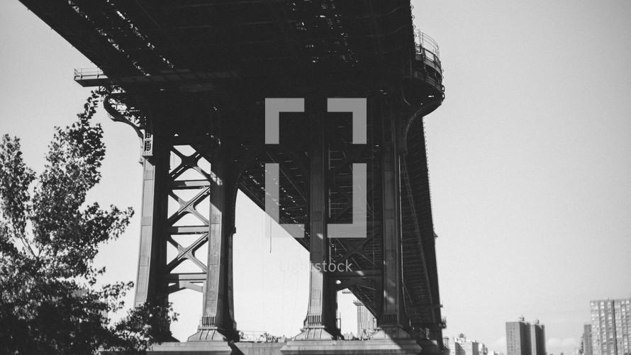 trestles of a bridge