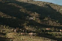 houses along a hillside
