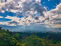 green landscape Volcan, Irazu, Costa Rica