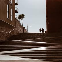 concrete steps outdoors