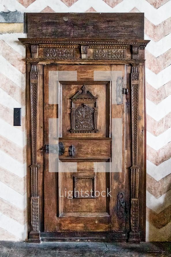 wood castle door
