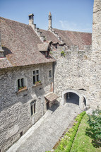 cobblestone castle