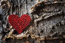 heart shape in honeycomb