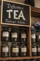 Loose Tea in jars