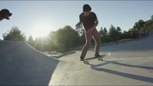 teen boy in a a skatepark