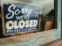 Sorry We're Closed please try again