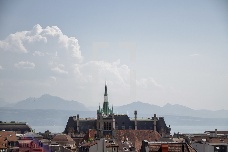 view of a cathedral in Switzerland