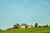 house on a hillside in Switzerland