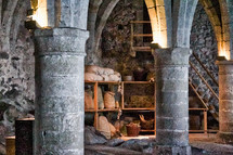 grains in a castle cellar