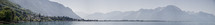 panoramic view of shoreline in Switzerland
