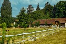 fence on a farm in Switzerland