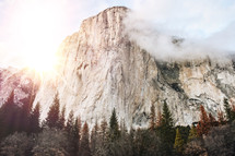 fog over Yosemite